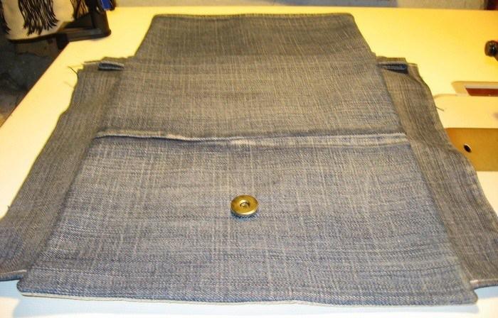 Быстрое изготовления сумки из джинсовой ткани