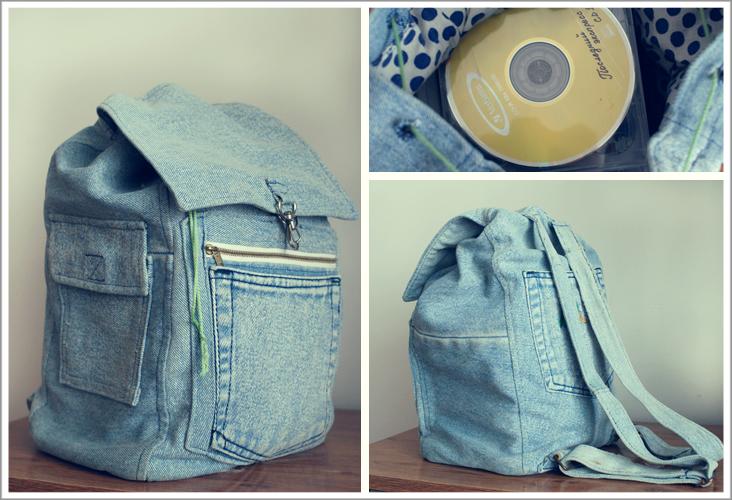 Изделие из старых джинсов
