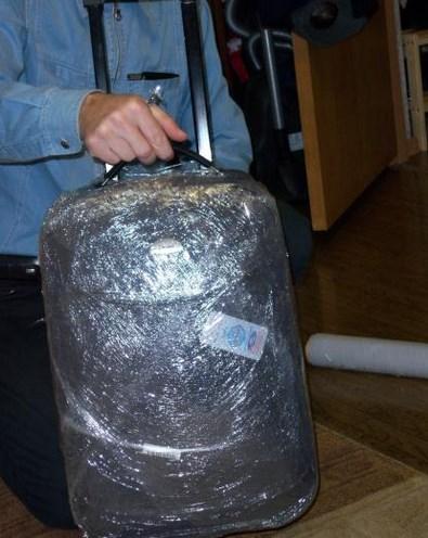 как правильно обернуть чемодан пленкой фото выезд клиенту домой