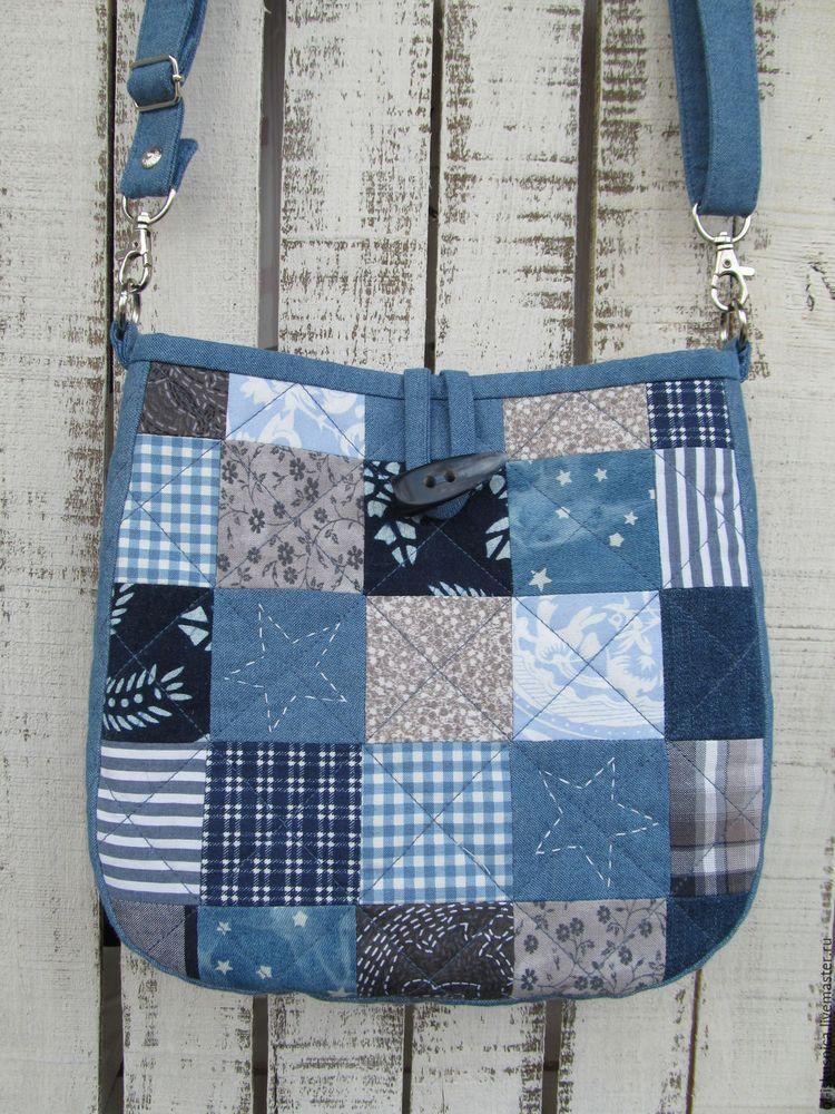 Красивый дизайн сумки из джинсов