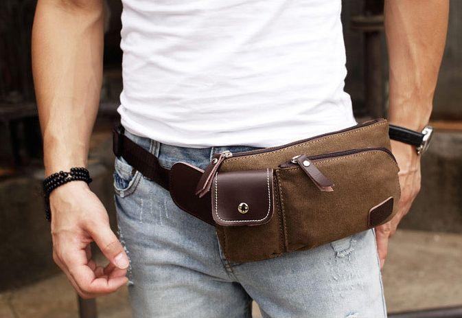 Как носить поясную сумку мужчинам, сочетание с разными стилями одежды