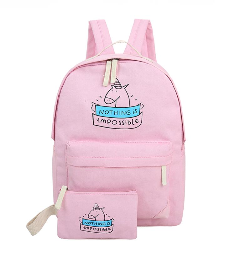 Школьный рюкзак 2 в 1 с единорогом