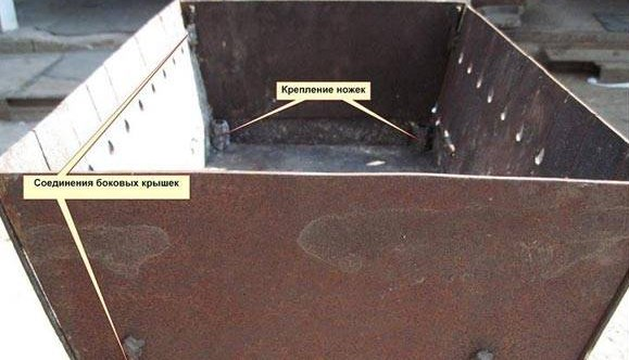 Сборка мангала-чемодана