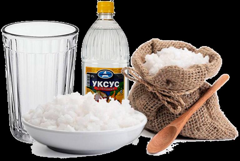 Соль и уксус для закрепления краски
