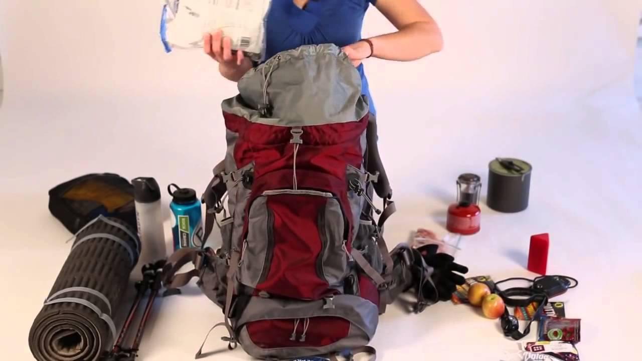 Упаковка рюкзака