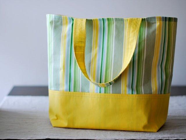Krasivaya-plyazhnaya-sumka Большая пляжная сумка из старых джинсов своими руками