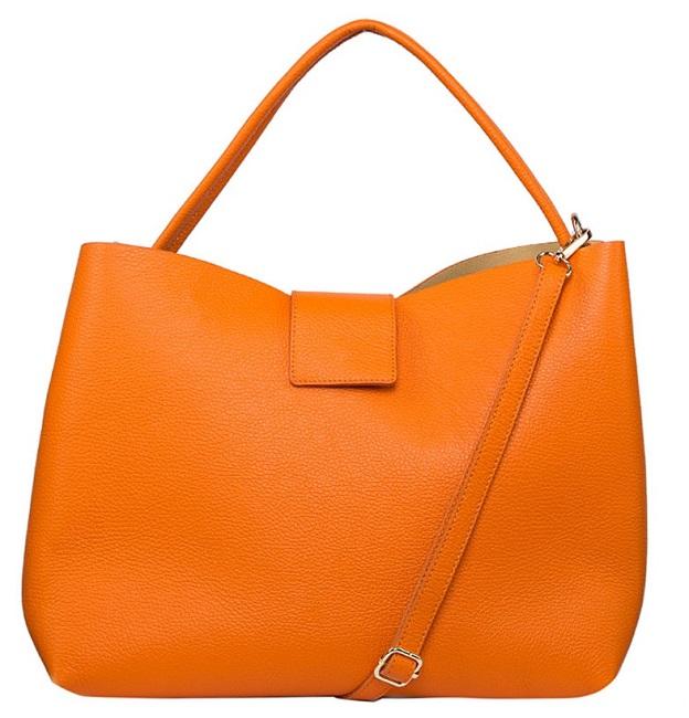 Оранжевый шоппер