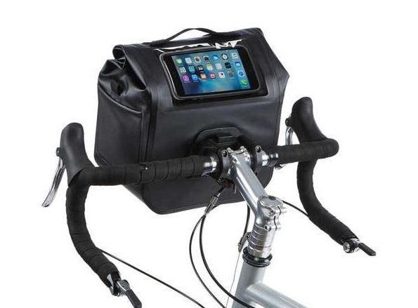 Велосумка с карманом для смартфона